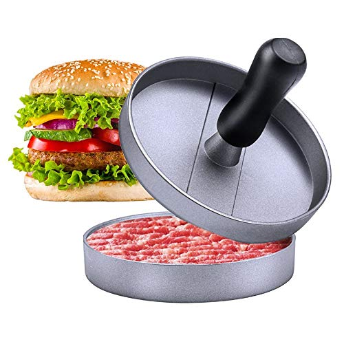 E-PRANCE Hamburger Press Aluminum Burger Press, Heavy Duty Non-Stick...