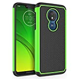 SYONER Shockproof Phone Case Cover for Motorola Moto G7 Power/Moto G7 Supra/Moto G7 Optimo Maxx (6.2', 2019) [Green]