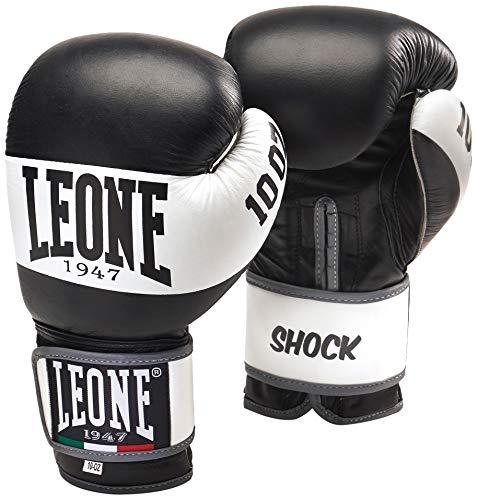 Leone 1947 Shock guantes de boxeo., Unisex adulto, Shock, negro