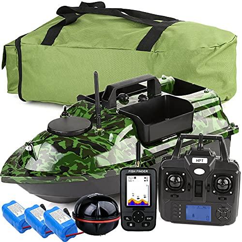 500m GPS Wireless Bait Bait Boat Carp Pesca Boat Speedboat RC Toy Boat 3 Hoppers LCD GPS Fishfinder con sensore Sonar, ecoscandaglio da Pesca.WQQWQQ-8521 (Color : GPS Boat Set 3)