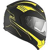 Motorcycle Helmet Modular Flip Up CKX Flex RSV Zone Large Mat Yellow Black Adult Large