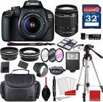 Tech :  Appareil photo reflex numérique Canon EOS 4000D avec ensemble d'accessoires professionnels 18-55 mm f / 3.5-5.6 III +  , avis