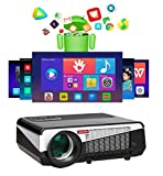 Gzunelic 7500 lumens Android WiFi 1080p Video Projector LCD LED Full HD Theater Proyector with...