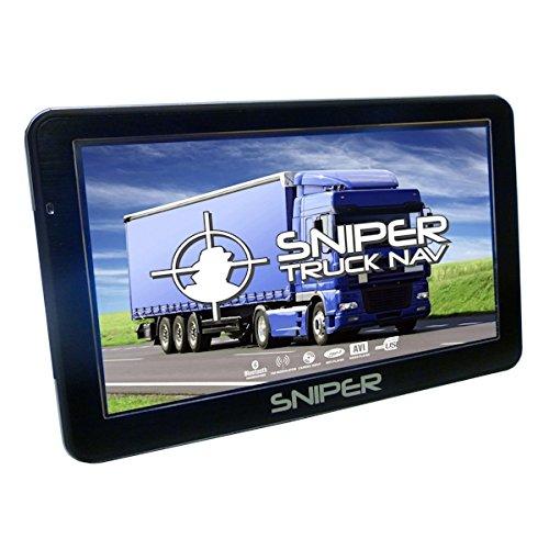 Sniper SN-701T Truck Nav with latest UK and Europe Maps, 7″ Sat Nav for Truck, Lorry, HGV, LCV, Motorhome, Caravans