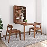 Craftatoz Sheesham Wood Dining Table with 2 Chairs for Living Room | Provincial Teak Finish