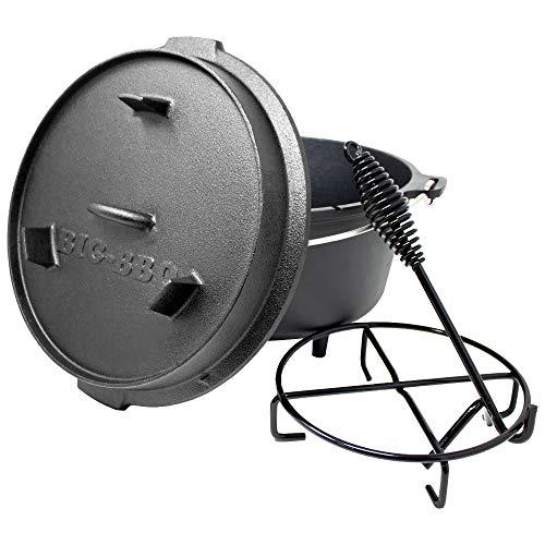 ToCis Big BBQ DO 6 Premium Dutch Oven   12' Forno Olandese in ghisa   pretrattato con Olio di soia ...