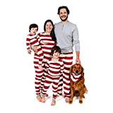 Burt's Bees Baby, Family Jammies, Matching Holiday Pajamas, Organic Cotton PJs, Red Rugby Stripe, Toddler & Kids, 2T