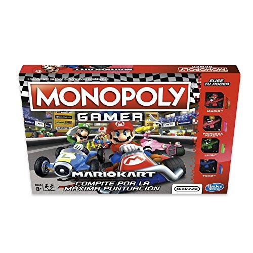 Hasbro Gaming Juego de Mesa Monopoly Mario Kart