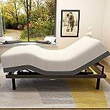 Milemont Adjustable Bed BaseFrame Smart Electric Beds Foundation (Twin XL, Gray)