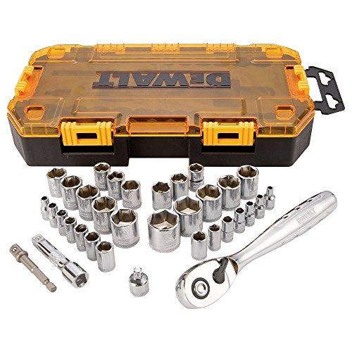 DEWALT (DWMT73804) Socket Set, 3/8-Inch Drive, SAE/Metric, 34-Piece