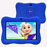 Contixo V9-3 7 inch Kids Tablets - 16 GB HD Display - 2GB RAM - WiFi Android Tablet Learning Games Preloaded - Durable Kid-Proof Case - Toddler Learning Toys with Parental Control(Dark Blue)