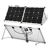 DOKIO Kit Panneau solaire pliable 100WC - 12V Idéal pour les utilisations embarquées comme le...