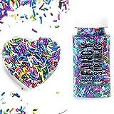 Fancy Sprinkles Edible Glitter Sprinkles for Baking, 4 oz (Rainbow Jimmies)