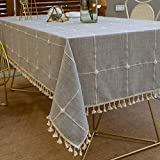 Pahajim Nappe Exterieur Rectangulaire Anti Tache Nappe Lavable Tissu Nappe Table...