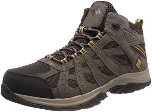 Columbia Canyon Point Mid Zapatos impermeables de senderismo para hombre , Marrón(Cordovan, Dark Banana), 43 EU