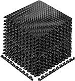 Walsai Exercise Mats Puzzle Foam Mats Gym Flooring Mat Cover 20 SQ.FT Interlocking Foam Mats with EVA Foam Floor Tiles for Home Gym Equipment Workouts