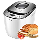 Bread Maker, AICOOK 2LB Automatic Bread Machine With Gluten Free Setting, LED Display, Nonstick Pan, 3 Crust Color & Keep Warm, Recipes