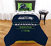 "NFL Seahawks ""Monument"" Twin/Full Comforter #887166350 Officially licensed - 100 percent polyester - Machine washable Size: Twin/Full Comforter 72"" x 86"" (Sheet set sold separately) Features team logo in the center of the comforter, with the team nam..."