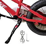 Kickstand for Kids Bike, Bicycle Kickstands Center Mount for 16 18 20 22 Inch Bicycles Adjustable Aluminum Alloy Kickstands for 16-18inch Mountain Bike/Road Bicycle/Adult Kid Bike/Sports Bike