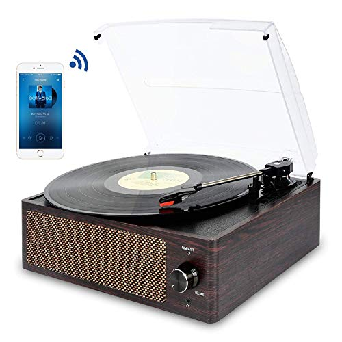 Giradischi Bluetooth Portatile a Tre Velocit (33 1/3, 45 E 78 Giri), Vintage Vinile Giradischi con...