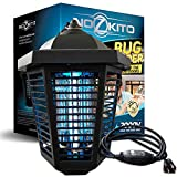 Nozkito Bug Zapper Mosquito Killer - Powerful 2000 Volts for Outdoor Use. 6 Foot Power Cord with Rainproof On/Off Switch. 1/2 Acre Coverage. Insect Trap UV Lamp