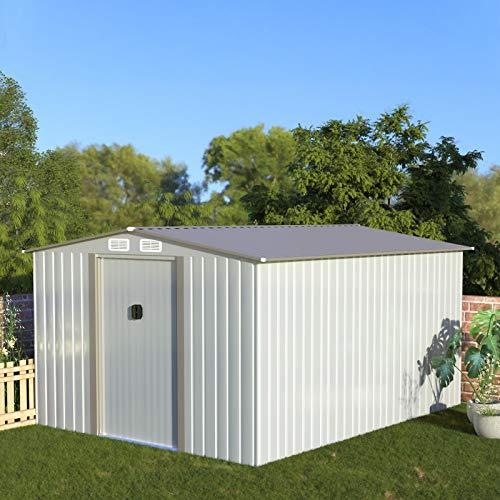 Aoxun Metal Outdoor Garden Storage Shed, 8' x 10'Utility Tool Storage...