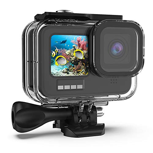 Kupton-Waterproof-Housing-Case-Compatible-with-GoPro-HERO9-Black-60M196FT-Underwater-Protective-Diving-Case-Shell-with-Bracket-Mount-Accessories-Compatible-with-Hero-9-New-Hero-2020