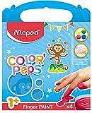 Maped Color'Peps 4 Pots de Peinture Doigt pour Bébé et Enfant dès 1 an -...