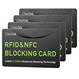 RFID Blocking Card, NFC Contactless Cards Protection Entire Wallet & Purse Shield, No More Need for Single Sleeves, Credit Card Holder, Wallets or Passport (Green)