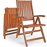 Deuba Sitzgruppe Moreno 8+1 Eukalyptusholz klappbar 9-TLG Tisch Sitzgarnitur Holz Gartenmöbel Garten Set - 6
