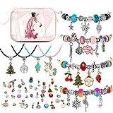 BESTISUR DIY Charm Bracelet Making Kit for Girls Silver Plated Snake Chain Jewelry Making Kit for...