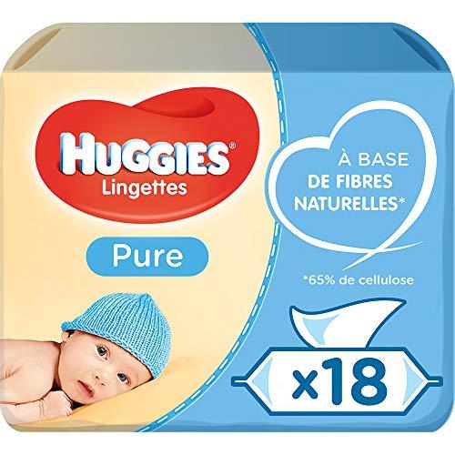 Huggies Pure Toallitas para Bebé - 18 paquetes de 56 unidad