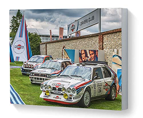 Canvas Print Wall Art Motorsport Martini Drivers Club Lancia Delta S4 Lancia HF Integrale Ford Focus WRC Goodwood Festival of Speed 2017