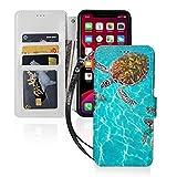 海洋亀遠洋 Iphone11スマホケース 手帳型 レザー 財布型 ワイヤレス充電可能 マグネット式 カ……