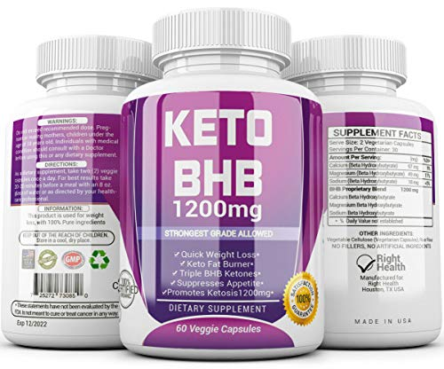 Keto Diet Pills - (1200mg 90 Day Supply) Weight Loss Fat Burner for Women & Men, Exogenous Ketones Supplement Boost 5