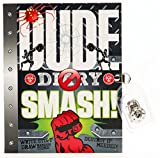 DUDE DIARY - Smash Ed. - for boys 8-12 - journal notebook - notebook activities and journal fun - 4-color illustrated - lock it up!