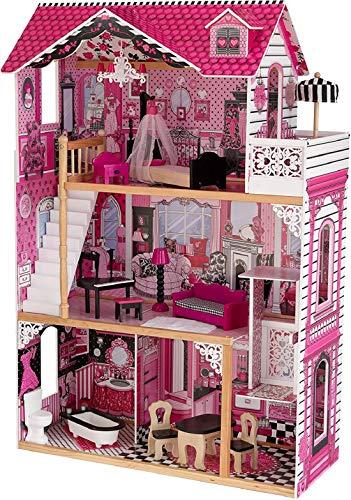 Kidkraft 65093 Casa delle Bambole Amelia in Legno adatta per Bambole di 30 cm, 15 Accessori Inclusi,...