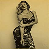 zxddzl Supermodelo Gisele Bundchen Fashion Show Victoria's Secret Vintage Paper Poster Wall Painting Decoración para el hogar