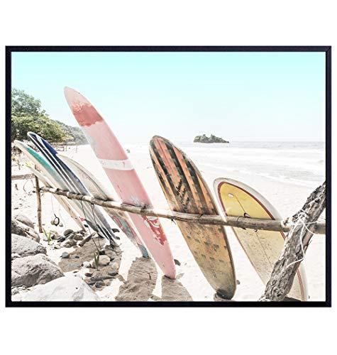 Surfing Wall Art - Coastal Wall Art - Beach Wall Decor - Ocean...