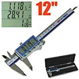 iGaging Digital Electronic Caliper Absolute Origin Smart Bluetooth Connectivity - IP54 Protection/Extreme Accuracy (12'/300mm)