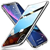 ESR iPhone XR ケース ガラスケース 強化ガラス tpuバンパー 9H硬度加工 薄型 全透明 滑り止め……