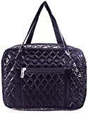 DIWI Quilted Bible Cover Large Sizes 10 X 7 X 2.75 Inches Bible Tote Puffer Nylon Bag Good Book Case (L, C2 Navy)