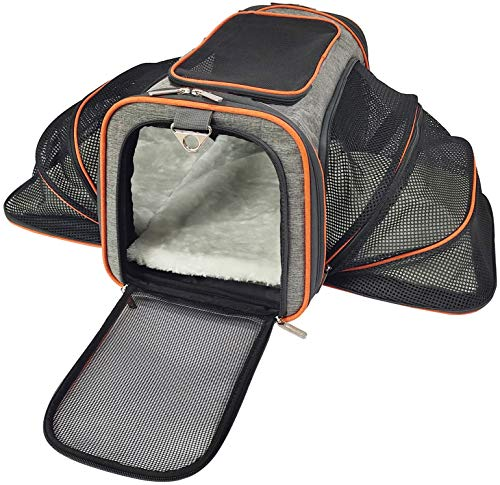 Mr Peanut's Double Expandable Airline Approved Soft Sided Pet Carrier Crate