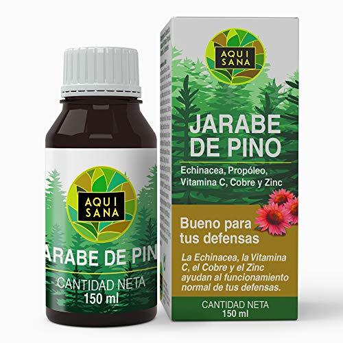 Kiefernsirup - Aquisana   Sirup mit Echinacea + Propolis + Vitaminen   Reduziert Hustenallergenfrei (150 ML)
