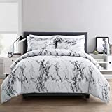 ARTALL 3 Piece Printed Marble Comforter Set with 2 Shams, Soft Microfiber Bedding for All Season, Full/Queen
