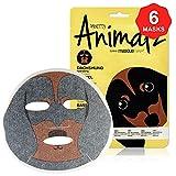 masque BAR Pretty Animalz Dachshund Puppy Facial Sheet Mask (6 Pack) — Korean Beauty Skin Care Treatment — — Spa Fun Face Mask Sheets Animal Characters