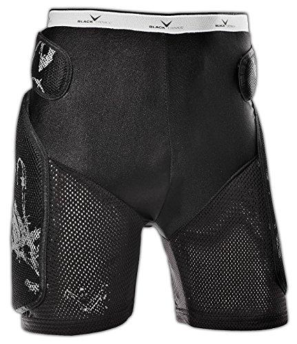 Black Crevice Crevice, Pantaloncini Protettivi Unisex Adulto, Nero, S