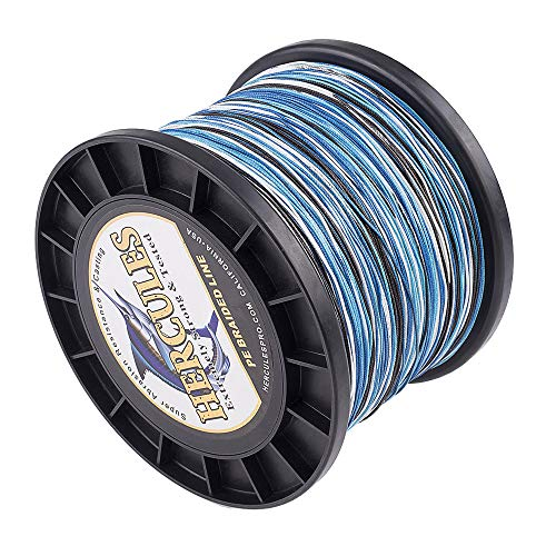 HERCULES Super Cast 1000M 1094 Yards Braided Fishing Line 80 LB Test for Saltwater Freshwater PE...