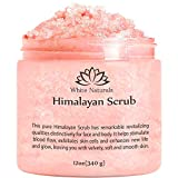 Pure Himalayan Pink Salt Body Scrub Wash With Exfoliate For Soft, Healthy Skin, Massaging For Sore Muscles & Skin Imperfection 12 oz
