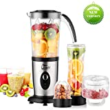 Blender Smoothie 1.25L, Uten Mini Blender, Mixeur Blender pour Milk-Shake,...